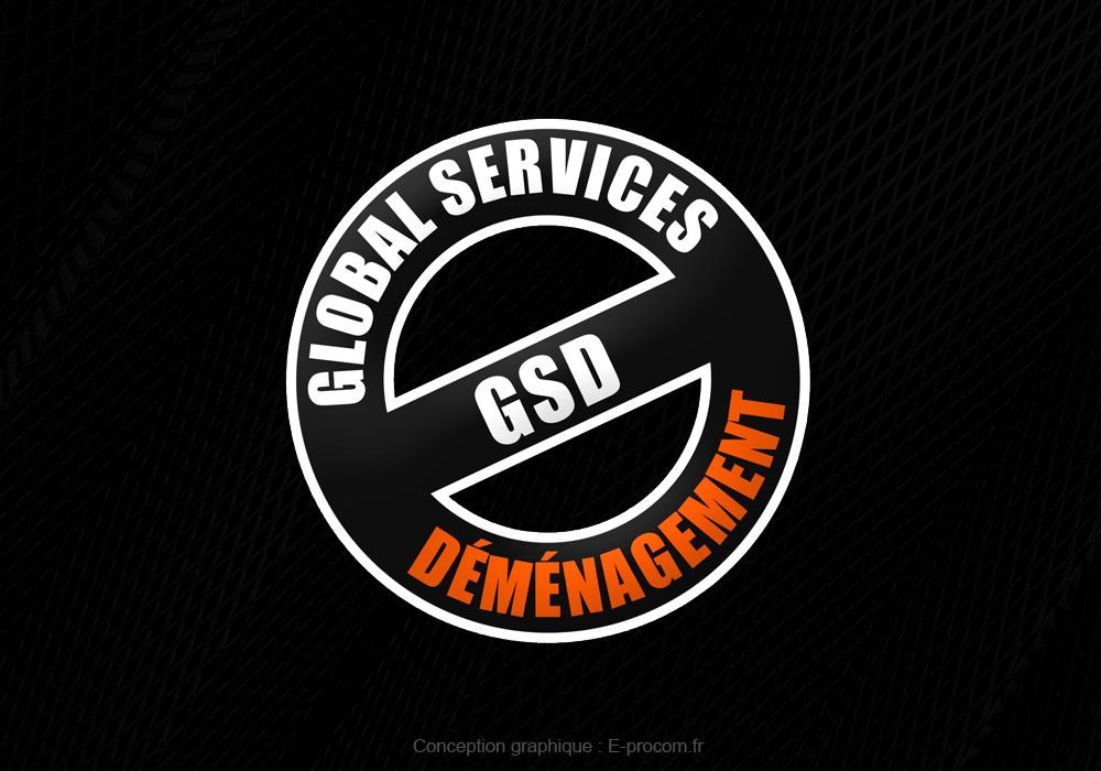 Logotype globla services demenagement