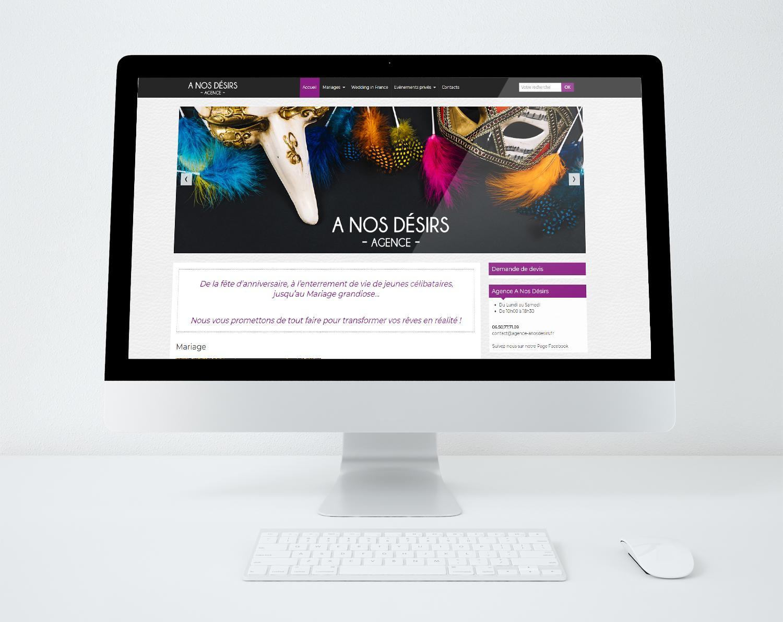 Site web agence a nos desirs