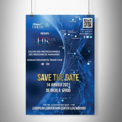 Affiche salon hr lux trade fair luxembourg 2021