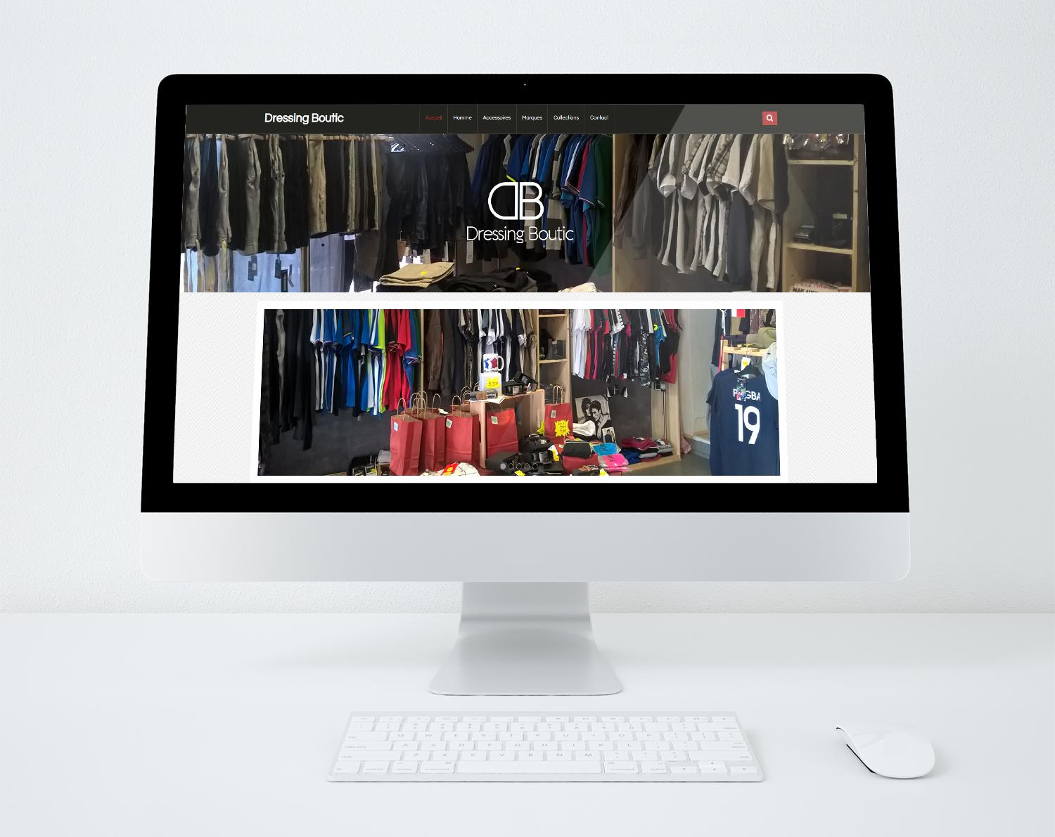 Site web dressing boutic