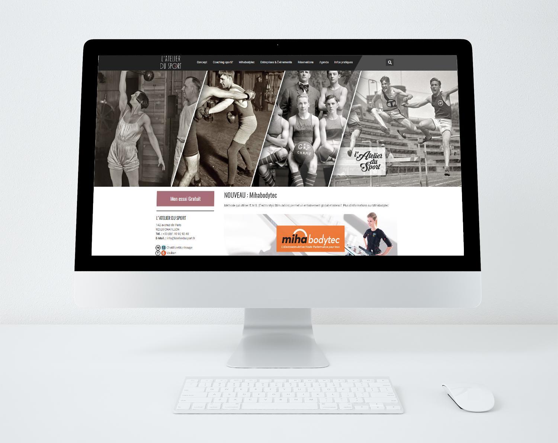 Site web l atelier du sport a chatillon 92