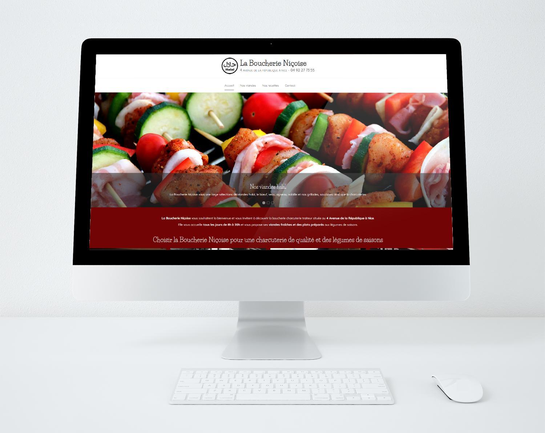 Site web la boucherie nicoise