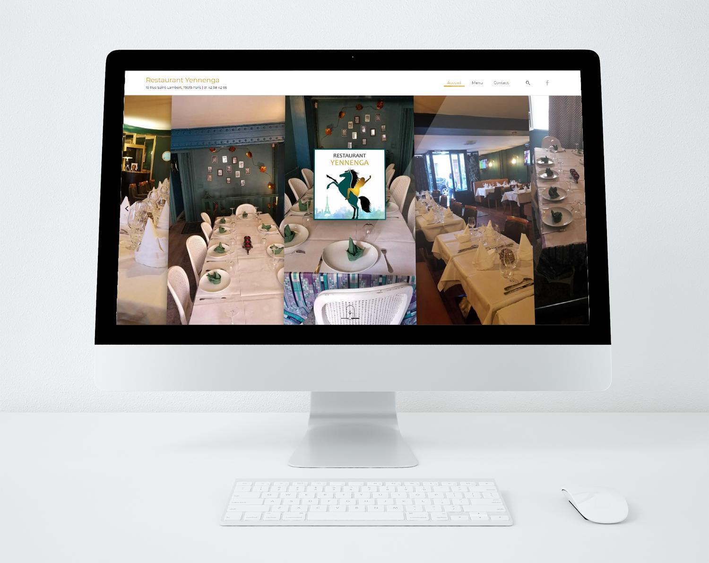 Site web restaurant yennenga