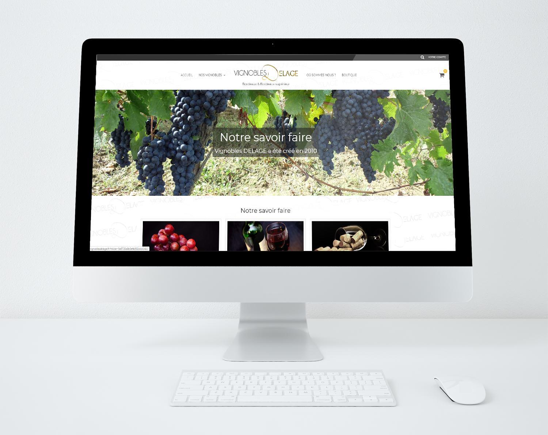 Vignoble delage site web