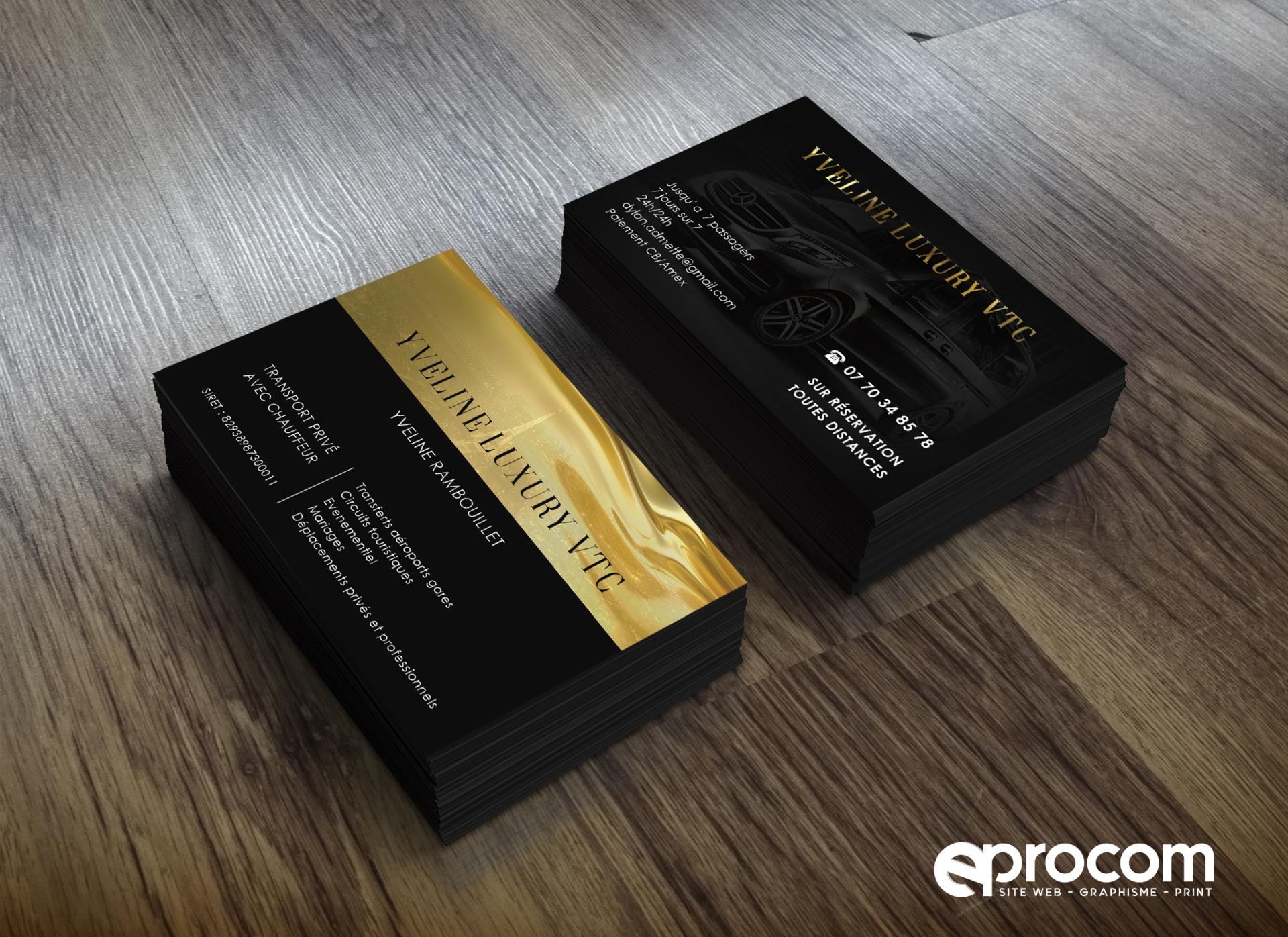 Yveline luxury vtc cartes de visite